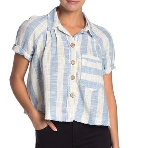 Free People Away at Sea Striped Top
